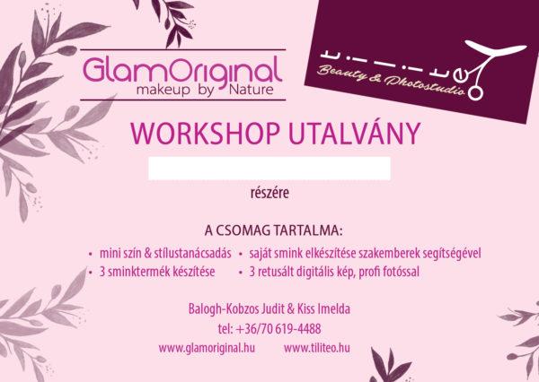Natúr smink készítő workshop utalvány